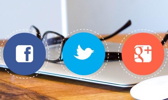 circular social icons