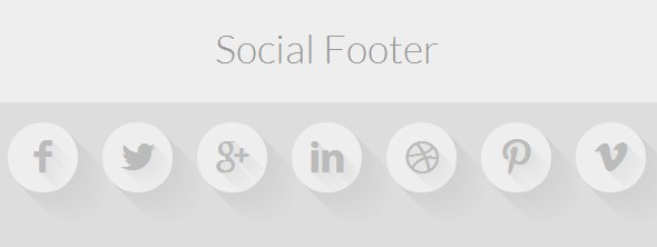 social media icon for footer