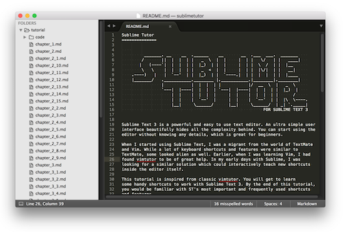 Sublime plugin: Sublime Tutor